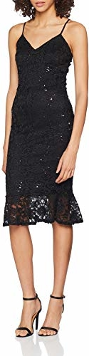 Sukienka Quiz midi z dekoltem w kształcie litery v