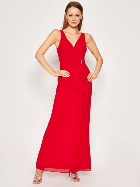 Sukienka Ralph Lauren z dekoltem w kształcie litery v maxi