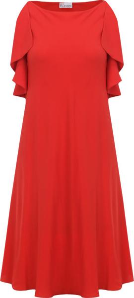 Sukienka Red Valentino z okrągłym dekoltem z jedwabiu