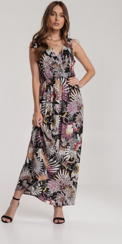 Sukienka Renee bez rękawów z dekoltem w kształcie litery v maxi