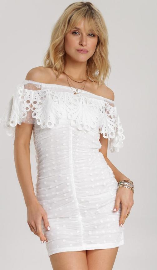 Sukienka Renee hiszpanka z krótkim rękawem mini