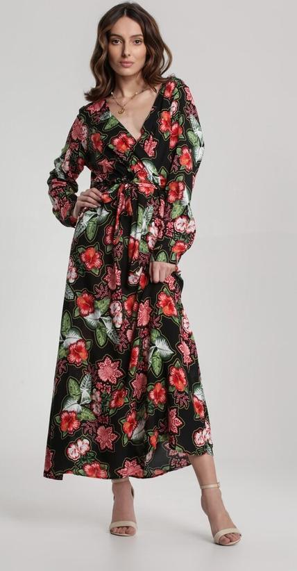 Sukienka Renee kopertowa w stylu boho maxi