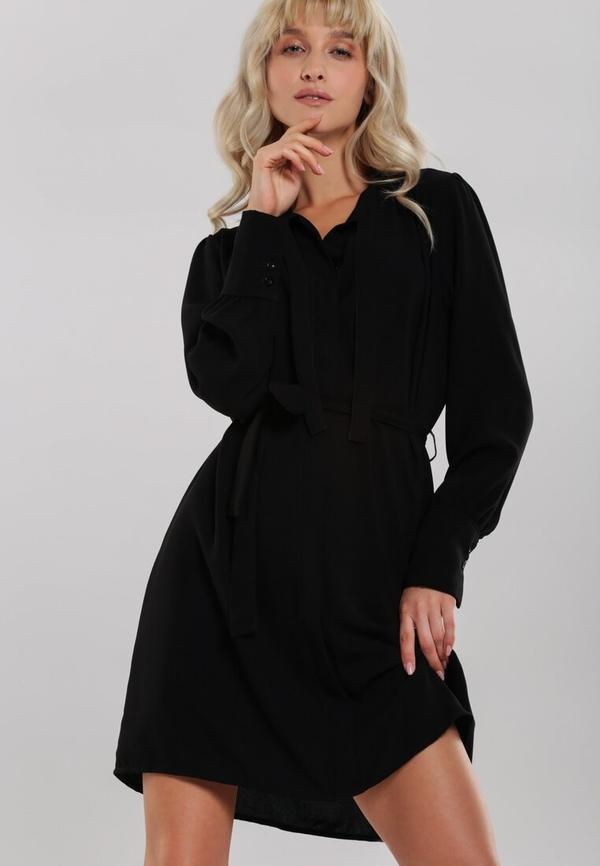 Sukienka Renee koszulowa mini z dekoltem w kształcie litery v