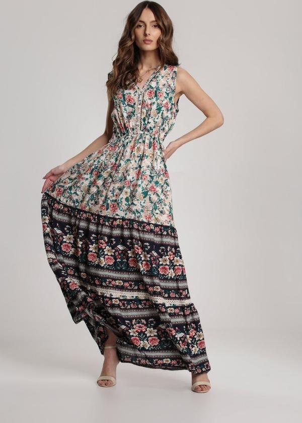 Sukienka Renee maxi w stylu boho z dekoltem w kształcie litery v