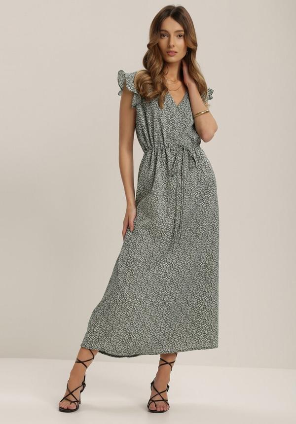Sukienka Renee maxi z krótkim rękawem