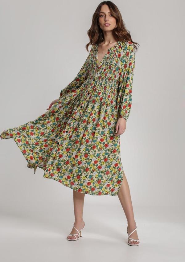 Sukienka Renee rozkloszowana z dekoltem w kształcie litery v