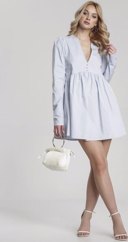 Sukienka Renee rozkloszowana z długim rękawem mini