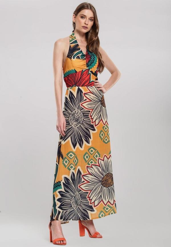 Sukienka Renee w stylu boho bez rękawów z dekoltem w kształcie litery v