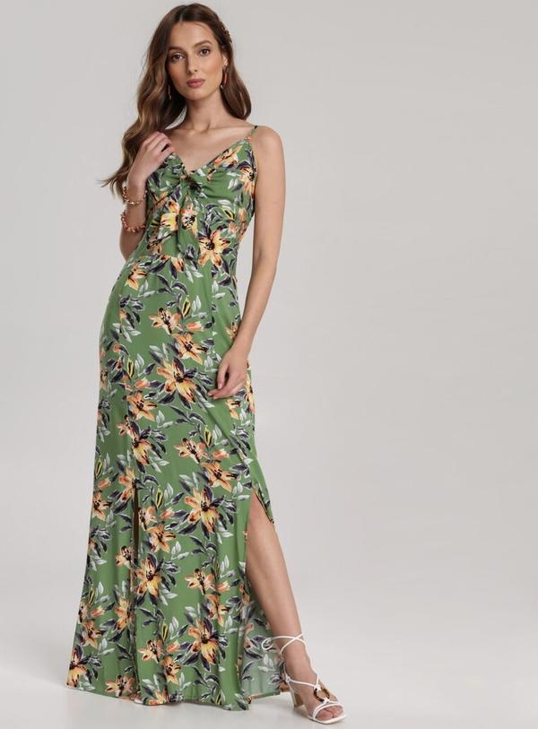 Sukienka Renee w stylu boho z dekoltem w kształcie litery v maxi