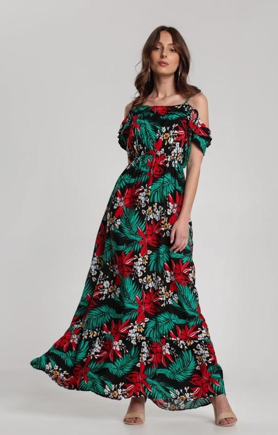 Sukienka Renee z odkrytymi ramionami z krótkim rękawem