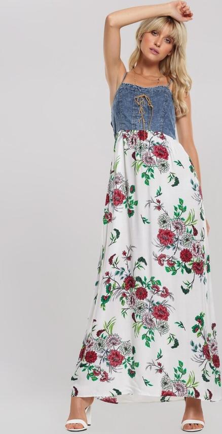 Sukienka Renee z okrągłym dekoltem maxi na ramiączkach