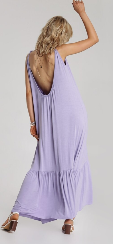 Sukienka Renee z okrągłym dekoltem prosta
