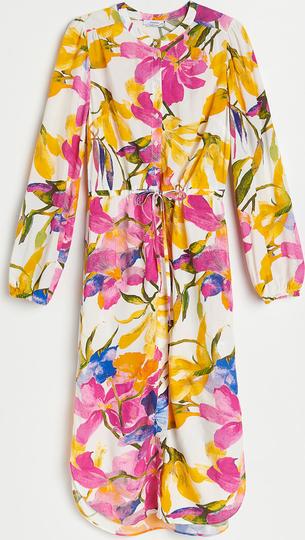 Sukienka Reserved mini w stylu casual szmizjerka