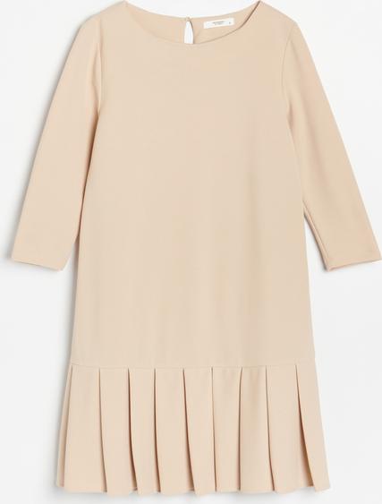 Sukienka Reserved prosta z okrągłym dekoltem