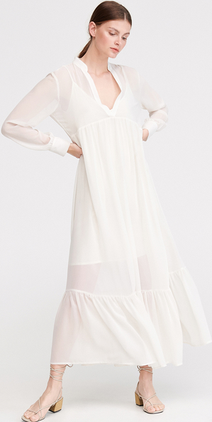 Sukienka Reserved w stylu boho z dekoltem w kształcie litery v