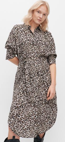 Sukienka Reserved w stylu casual szmizjerka midi