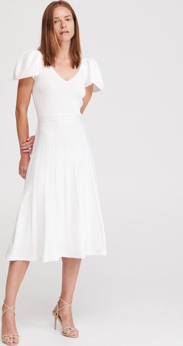 Sukienka Reserved w stylu casual z dekoltem w kształcie litery v z krótkim rękawem
