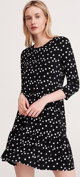 Sukienka Reserved w stylu casual z okrągłym dekoltem mini