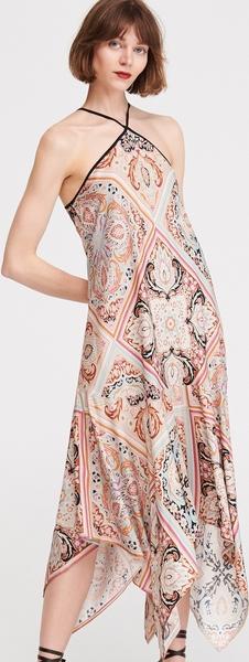 Sukienka Reserved z dekoltem halter w stylu casual