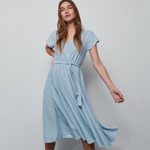 Sukienka Reserved z krótkim rękawem w stylu casual z dekoltem w kształcie litery v