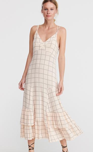 Sukienka Reserved z odkrytymi ramionami z dekoltem w kształcie litery v