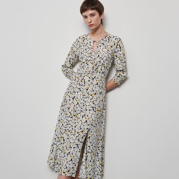 Sukienka Reserved z okrągłym dekoltem z długim rękawem