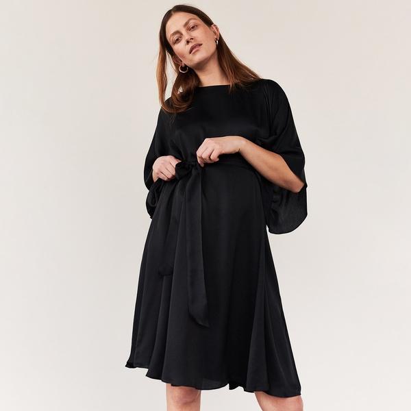Sukienka Reserved z okrągłym dekoltem z satyny