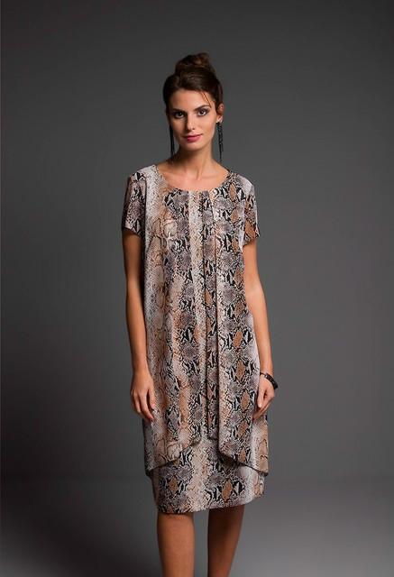 Sukienka Risca trapezowa z tkaniny