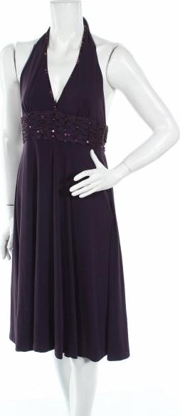 Sukienka RISE z dekoltem w kształcie litery v midi rozkloszowana