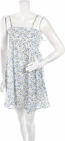 Sukienka Risoe rozkloszowana mini z dekoltem w karo