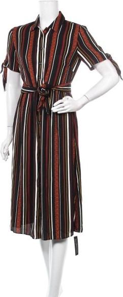 Sukienka Roman midi z dekoltem w kształcie litery v z krótkim rękawem