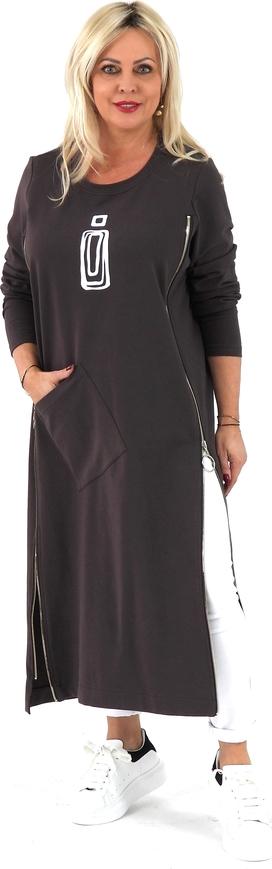 Sukienka Roxana - sukienki maxi z okrągłym dekoltem w stylu casual