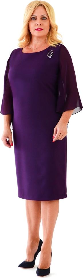 Sukienka Roxana - sukienki midi z szyfonu