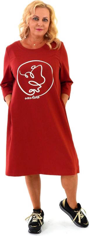 Sukienka Roxana - sukienki z okrągłym dekoltem