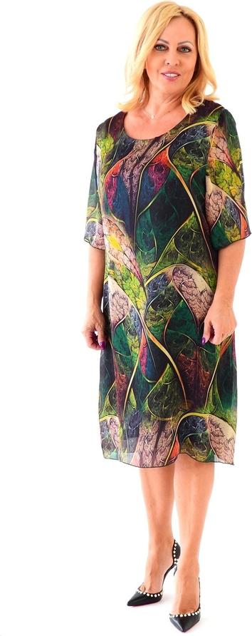 Sukienka Roxana - sukienki z szyfonu z długim rękawem