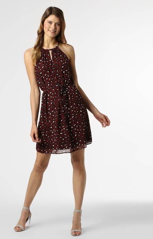 Sukienka S.Oliver Black Label mini rozkloszowana z dekoltem halter