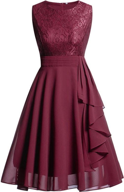 Sukienka Sandbella bez rękawów z szyfonu mini