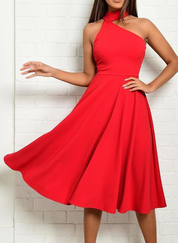 Sukienka Sandbella midi asymetryczna