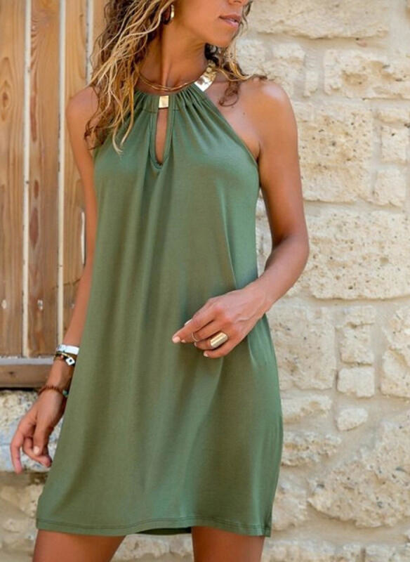Sukienka Sandbella mini bez rękawów