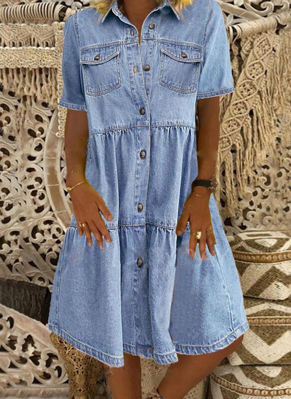 Sukienka Sandbella mini szmizjerka w stylu casual
