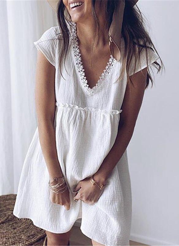 Sukienka Sandbella mini w stylu boho