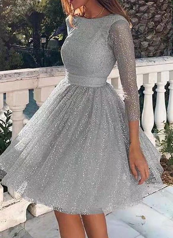 Sukienka Sandbella w stylu casual z okrągłym dekoltem mini