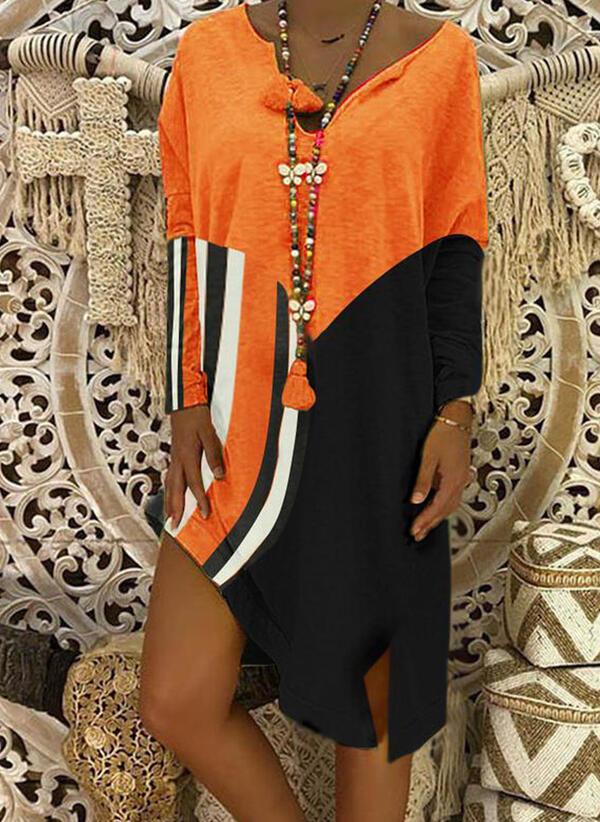 Sukienka Sandbella z długim rękawem mini asymetryczna