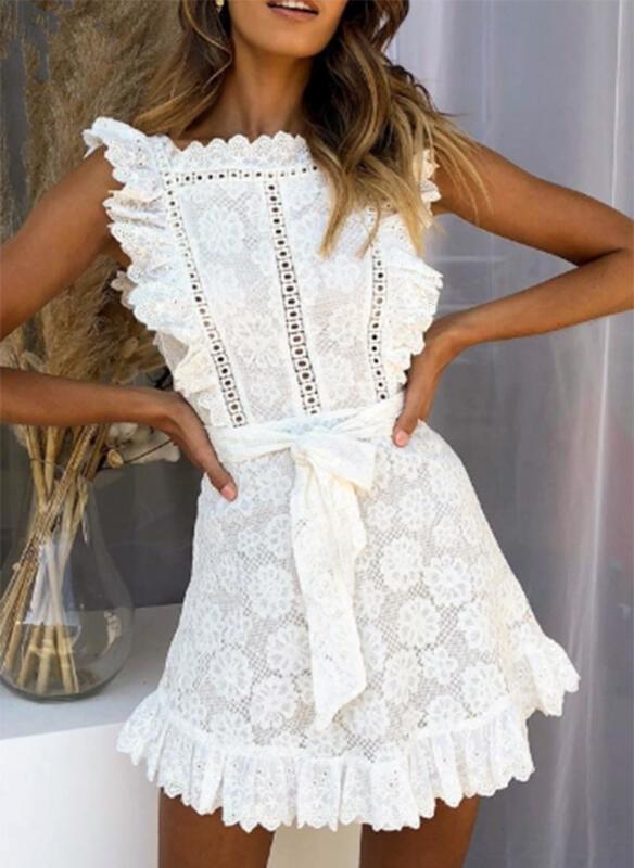 Sukienka Sandbella z krótkim rękawem