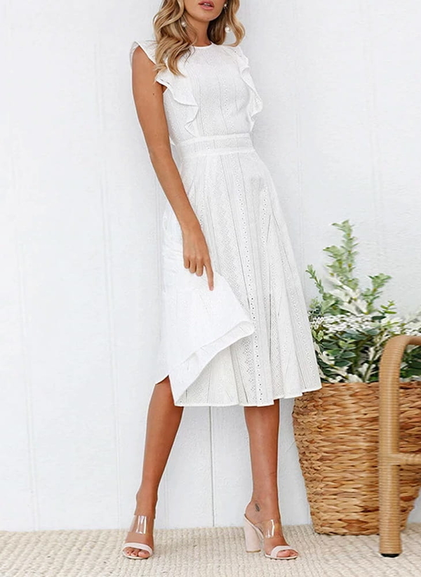 Sukienka Sandbella z okrągłym dekoltem