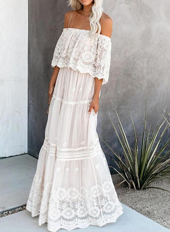 Sukienka Sandbella z szyfonu maxi