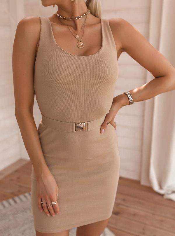 Sukienka SELFIEROOM dopasowana mini bez rękawów