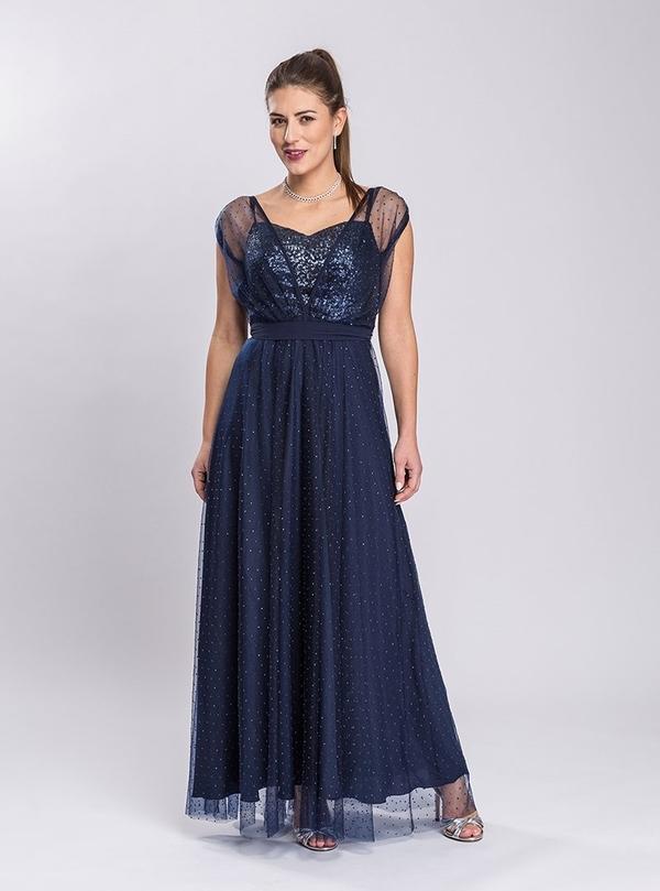 Sukienka Semper maxi z dekoltem w kształcie litery v