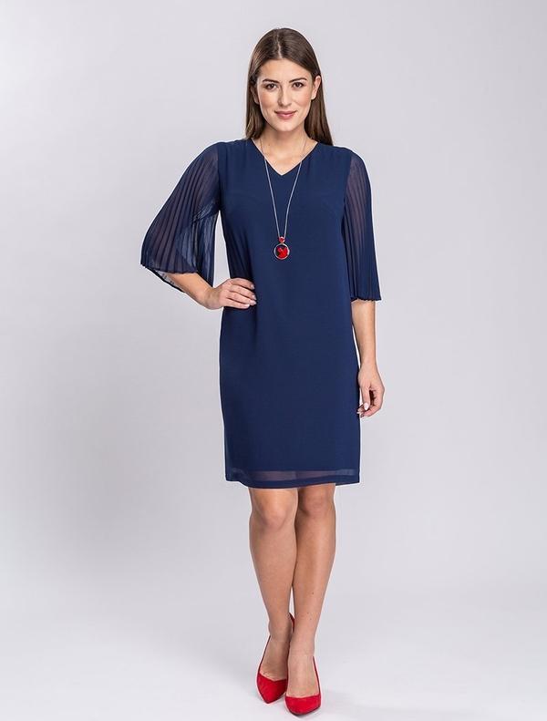 Sukienka Semper mini z długim rękawem prosta