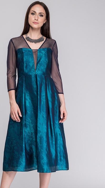 Sukienka Semper z dekoltem w kształcie litery v midi